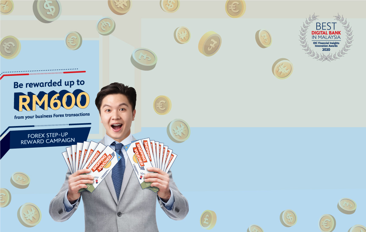 Be rewarded up to RM600 from your Forex transactions