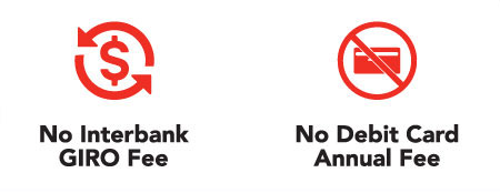 No Interbank GIROl Fee & No Debit Card Annual Fee