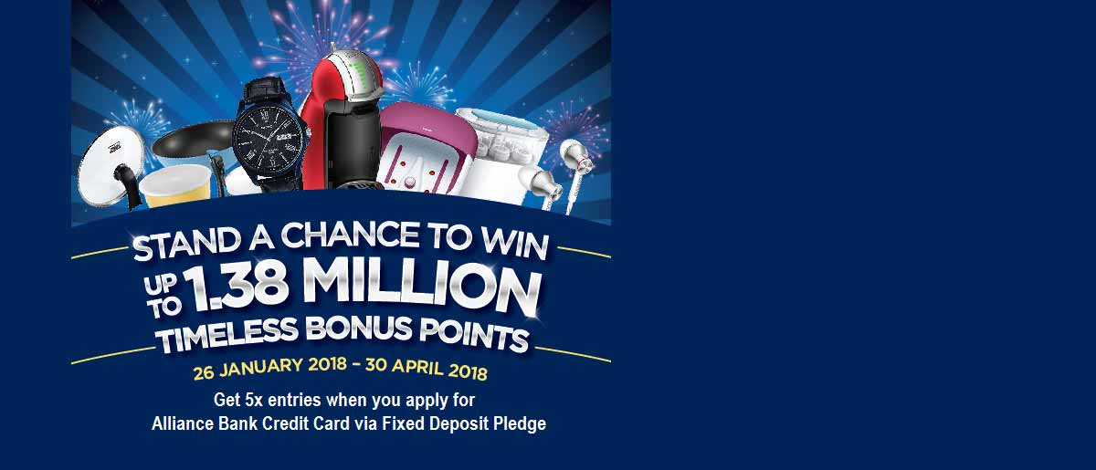 Stand A Chance to Win up to 1.38 Million Timeless Bonus Points!